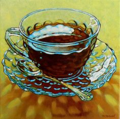DPW Fine Art Friendly Auctions - Clouds In My Coffee by Margaret Horvat