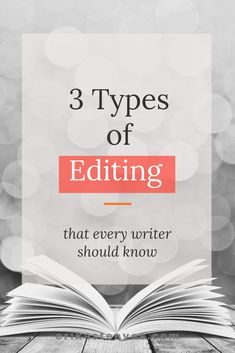 Editing is a crucial part of the writing process. A professional copy editor walks you through the 3 levels of editing you should put your book through. #writingtips #selfpublishing #editing #books