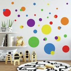 Walls pop with color with Colorful Dots Wall Decals by RoomMates Decor. Walls pop with color with Colorful Dots Wall Decals by RoomMates Decor. Kids Wall Decor, Art Decor, Home Decor, Wall Decals For Kids, Kids Church Decor, School Wall Decoration, Kids Church Rooms, Baby Wall Decals, Polka Dot Wall Decals