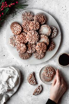 Stamped, soft cardamom gingerbread cookies with a citrusy, orange glaze. And this recipe requires no rolling or chilling! Stamp Cookies Recipe, Ginger Bread Cookies Recipe, Ginger Cookies, Cardamom Cookies Recipe, Cardamon Recipes, Cookie Stamp, Orange Cookies, Fancy Cookies, Cookies Soft