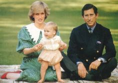 April 23, 1983: Prince Charles and Princess Diana with nine-month Prince William on the lawn of the Government House in Auckland, New Zealand.