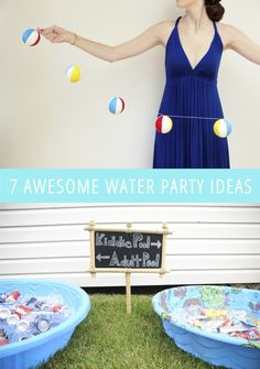 7 Awesome Water Party Ideas K Butler Water Birthday, Luau Birthday, Frozen Birthday Party, Luau Party, First Birthday Parties, Beach Party, Birthday Ideas, Splash Party, Karaoke Party