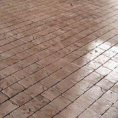 Stamped Concrete Brick Pattern