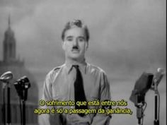 "Trecho do filme ""O grande ditador"" (The great dictator), 1940 de Charles Chaplin com legendas em português."