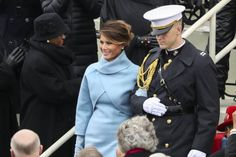 President-elect Donald Trump's wife, Melania, Trump arrives during the 58th Presidential Inauguration at the U.S. Capitol in Washington Friday.