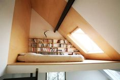 loft bedroom with inclined roof