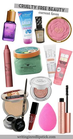 Cruelty Free Beauty Faves // Drugstore and High End Makeup, not tested on animals!