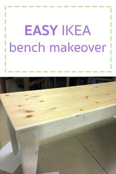 Copy this simple IKEA bench makeover! This is so simple! I had this Ikea Nornas bench that was needing a bit of sprucing up. Because Ikea's great, but who wants to feel like they've got the same piece of furniture as everyone else on the planet? Ikea Nornas, Ikea Bench, Bathroom Towel Storage, Diy Wall Shelves, Mason Jar Lighting, Ikea Furniture, Unique Furniture, Furniture Ideas, Do It Yourself Home