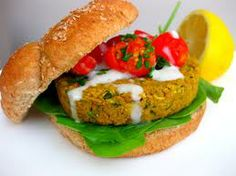 "Recipe Falafel Burgers With garbanzo  Falafel  is a deep-fried ball or patty made from ground chickpeas, fava beans, or both.   Falafel is a traditional Egyptian food, usually served in a pita, which acts as a pocket, or wrapped in a flatbread known as lafa; ""falafel"" also frequently refers to a wrapped sandwich that is prepared in this way.  - See more at: http://goodlifefitnesss.blogspot.com/2013/12/recipe-falafel-burgers-with-garbanzo.html"