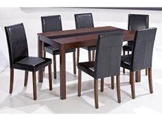 LPD Ashleigh Walnut Large Dining Set ( 1 large dining table + 6 chairs) £303.03
