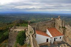 Marvao Castle - The military and strategic advantages of a plateau over the frontier continued until the 19th century and a garrison and independent military government were maintained continuously from the Middle Ages until the revolts of the eighteen hundreds #BoutiqueHotelPoejo #Marvao #Alentejo #Portugal