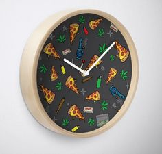 #420 #pizza #clock