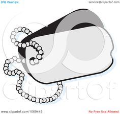 blank dog tags with chain - Google Search