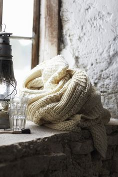 I'm dreaming of a winter cabin during this cold spell - romantic, rustic, cozy and comfortable with an open fireplace and hot chocolate. Lighthouse Keeper, Winter Cabin, Cozy Winter, Winter Time, Winter Wear, Faux Fur Throw, Getting Cozy, Sweater Weather, Warm And Cozy