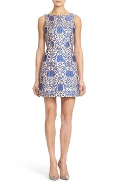 1ad944d89ec Alice + Olivia  Carrie  Floral Jacquard Sheath Dress