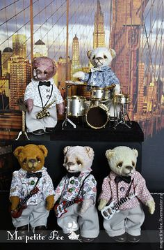 Boys Band OOAK - artist Teddy Bear by Edemskaya Anna
