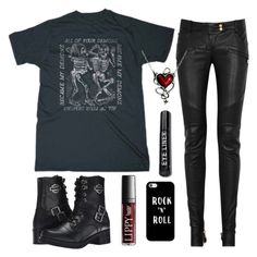 """""""Eh"""" by choice-to-be ❤ liked on Polyvore featuring Balmain, Harley-Davidson and Casetify"""
