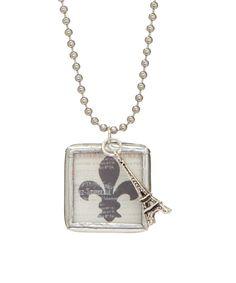 Peppermint Charms Fleur-de-Lis Pendant Necklace | zulily