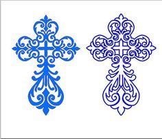 Decorativa etiqueta Cruz