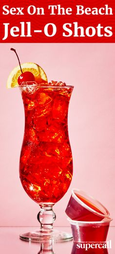 The sweetness of the drink—which comes from a blend of cranberry juice, orange juice and peach schnapps Party Drinks, Cocktail Drinks, Fun Drinks, Mixed Drinks, Party Shots, Craft Cocktails, Refreshing Drinks, Cocktail Recipes, Jello Shot Recipes