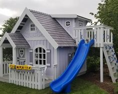 The Sweetheart XL Playhouse by Imagine That Playhouses! The Sweetheart XL Playhouse Backyard Playhouse, Build A Playhouse, Wooden Playhouse, Backyard Playground, Outdoor Playhouses, Cubby Houses, Play Houses, Casa Wendy, Kids House