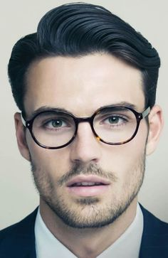 Men's Side Swept Quiff Hairstyle