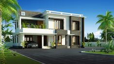 House Designed by SquareDrive Livingspaces. Contemporary Architecture, Contemporary Design, Architecture Design, 2 Storey House Design, Kerala House Design, Kerala Houses, Living Spaces, Sweet Home, Floor Plans
