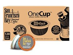 San Francisco Bay OneCup, Decaf French Roast, 120 Single Serve Coffees * Read more reviews of the product by visiting the link on the image.