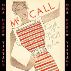 This is a digital collection of  3 McCall Style News Sewing Pattern booklets from March, April, and May of 1936. Included dresses, formal and bridal gowns, lingerie, hats, accessories, children's clothing and more.
