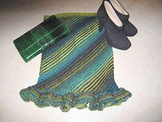with added Ruffles. Lane Splitter, Ruffles, Skirt, Knitting, Cast On Knitting, Tricot, Stricken, Crocheting, Knits