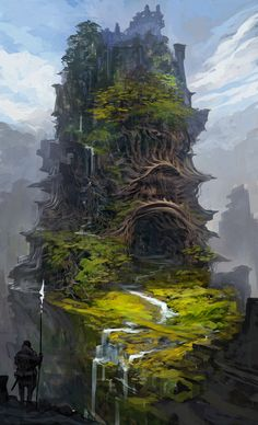 Reminds me of \'castle in the sky\' For this concept design the artist has gone for a fantasy theme. The mood of the design is positive with the vibrant colours and there is a sense of mystery and magic with the castle/temple.