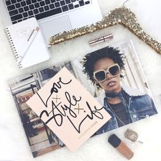 Love, Style, Life. One of the best, loveliest styled covers. :D Check out how you can take awesome flatlays in the Free email course, The #FlatLay Kit, sign up --> http://www.theflatlaykit.com