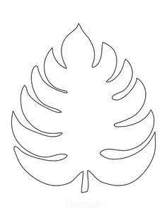 Leaves Template Free Printable, Fall Leaf Template, Flower Template, Printable Designs, Leave Template, Paper Flower Patterns, Paper Flowers Diy, Flower Crafts, Free Applique Patterns