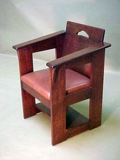 Voorhees Craftsman Mission Oak Furniture - Accurate reproduction Limbert Cafe Chair