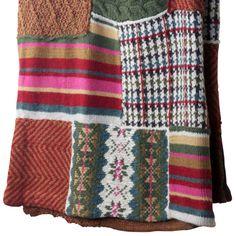 de Le Cuona | Knitted Alpaca Wool Blanket Puzzle Pink 180x135cm
