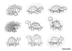 Animal drawings, cartoon turtle и turtle sketch. Cute Animal Drawings, Animal Sketches, Cute Drawings, Art Sketches, Turtle Sketch, Turtle Love, Animated Cartoons, Character Design References, Creature Design