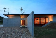 2306 Story House, My House, Arch House, One Story Homes, Japanese House, Concrete Wall, Architecture, Interior And Exterior, Entrance