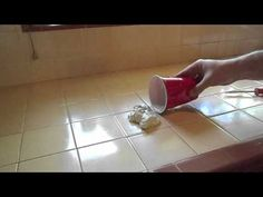 This is a great how-to for re-doing the grout on a kitchen counter top.   Home Repair: Kitchen Tile Re-Grout - YouTube