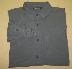 Men's Arc'Teryx   Hiking Fishing Long Sleeve Shirt  Sz  M Medium - Gray #ArcTeryx #ButtonFront