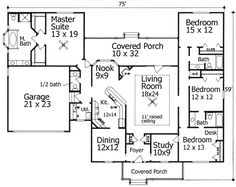 Small Bungalow House Plan With Huge Master Suite House