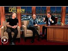 The Late Late Show James Hetfield and Lars Ulrich,Metallica 17 November ...