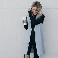 Coffee & cute vests 👌🏼 | Women's fashion #hunnistyle