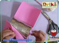 Coelhinho da Páscoa feito com EVA e lata passo a passo 2ª parte - Drika Artesanato - O seu Blog de Artesanato.