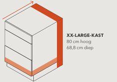 diepere kasten = meer bergplaats in de Keuken - XXL kasten van Kvik