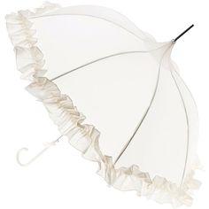 Lisbeth Dahl Ruffle Umbrella (€27) ❤ liked on Polyvore featuring accessories, umbrellas, parasol, fillers, cream, frilly umbrella, victorian umbrella, ruffle umbrella, lisbeth dahl umbrella and metal umbrella
