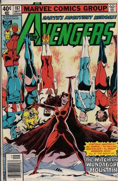 Avengers 187  Scarlet Witch seems like she'd make such a nice supervillianess.