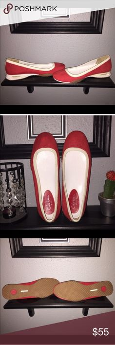 ✳️One Day Sale✳️ Cole Haan Red Sports Flats Super cute sporty red flats with a little raised heel, for us shorty's. Cole Haan Shoes Flats & Loafers