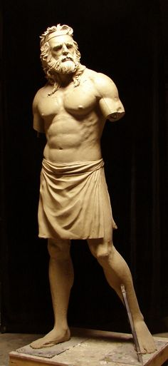 The progress on my latest version of Samson. Clay for bronze by Benjamin Victor. Height--6'6""