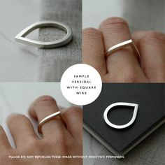 Droplet silver ring