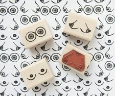 Boobs Rubber Stamp Set by Native Bear